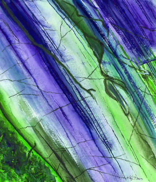 Wall Art - Painting - Striations In Blueberry by Rosemary Craig
