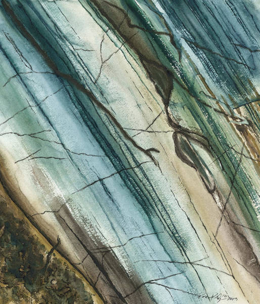 Wall Art - Painting - Striations In Natural - Muted by Rosemary Craig