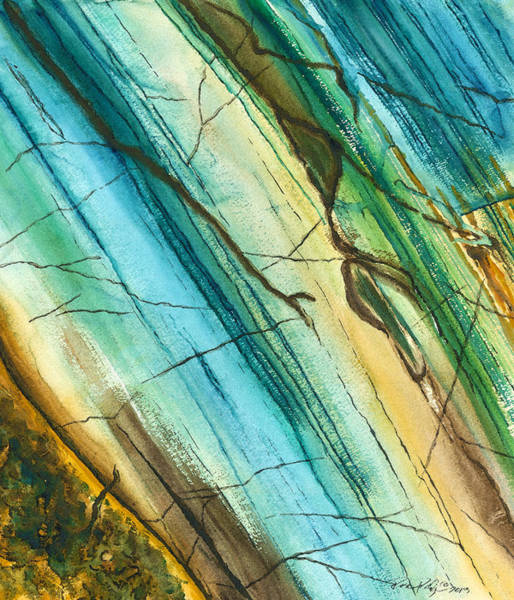 Wall Art - Painting - Striations In Natural by Rosemary Craig