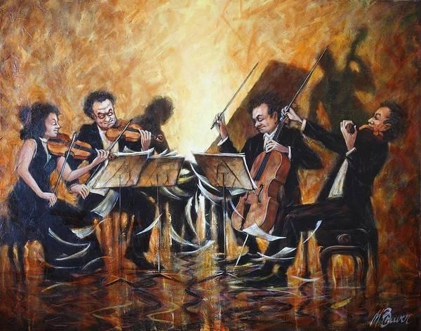 Acrilic Painting - String Quartet by Mark Braver