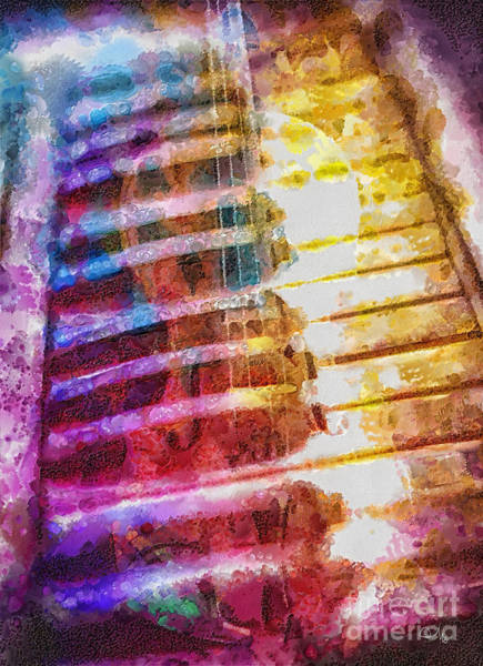 Piano Key Painting - Strings by Mo T