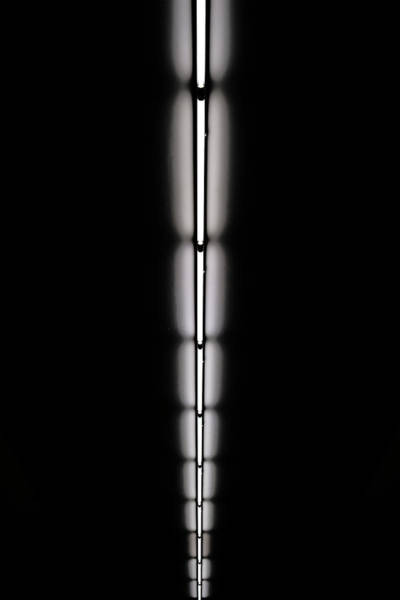 Vertical Perspective Photograph - Strip Of Florescent Lighting by Win-initiative