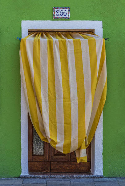 Photograph - Striped Awning At 966 by Roberto Pagani
