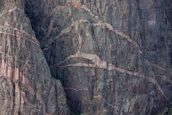 Horizontal Stripes Photograph - Striped Granite, Black Canyon Of The by Brent Winebrenner