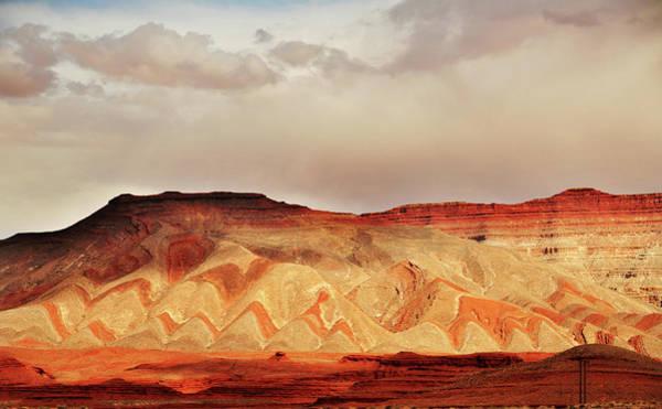 Horizontal Stripes Photograph - Striped Mountains Near Mexican Hat Utah by Utah-based Photographer Ryan Houston