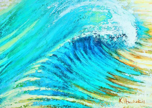 Painting - Striped Wave by Kaata    Mrachek