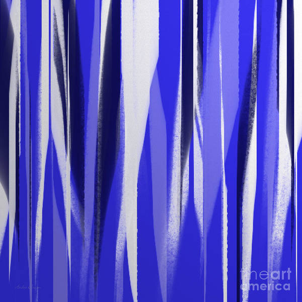 Digital Art - Stripes 14 Abstract Square by Andee Design