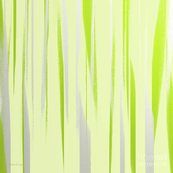 Digital Art - Stripes 7 Abstract Square by Andee Design