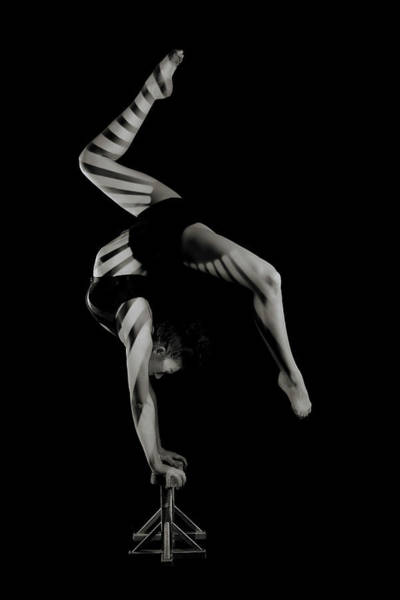 Acrobat Wall Art - Photograph - Stripes by Howard Ashton-jones