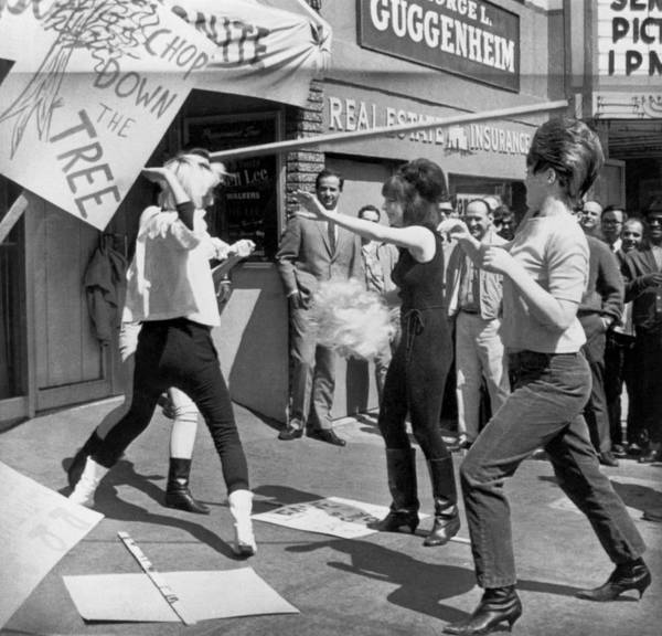 Photograph - Strippers On Strike by Underwood Archives
