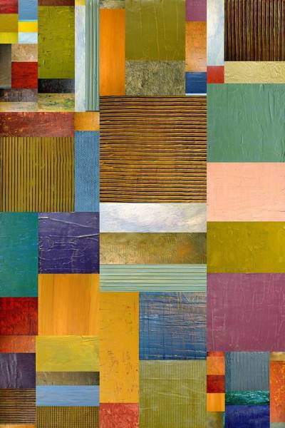 Painting - Strips And Pieces Lv by Michelle Calkins