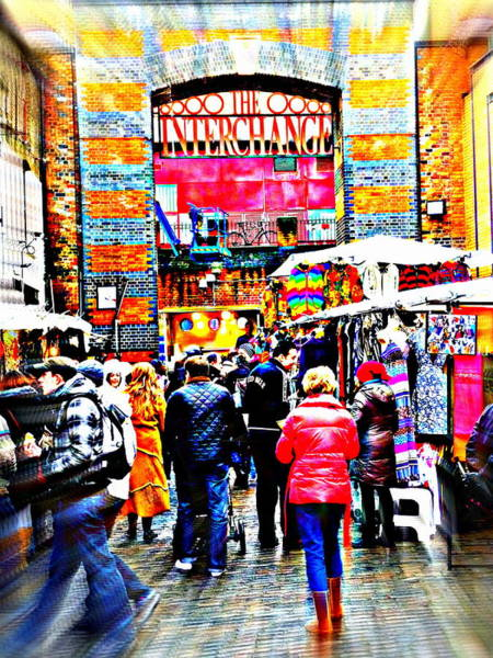 Wall Art - Photograph - Strolling Camden Town Market In London  by Funkpix Photo Hunter