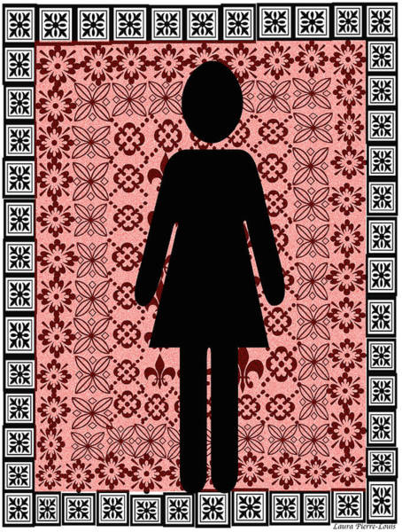 Wall Art - Digital Art - Strong Black Woman by Laura Pierre-Louis