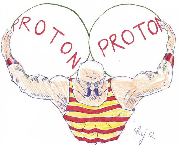 Drawing - Strong Nuclear Force by Mike Jory