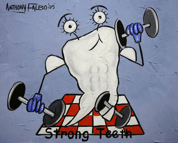 Painting - Strong Teeth by Anthony Falbo
