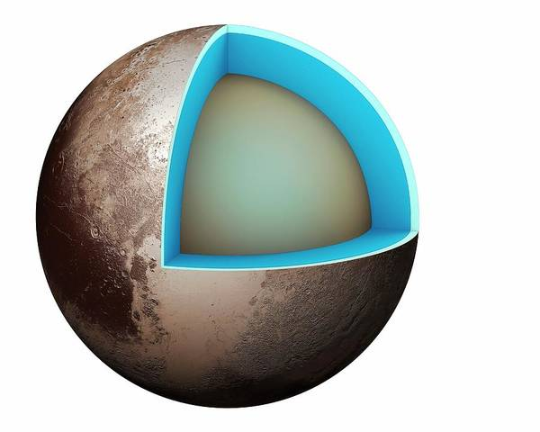 Cutout Wall Art - Photograph - Structure Of Pluto by Mikkel Juul Jensen
