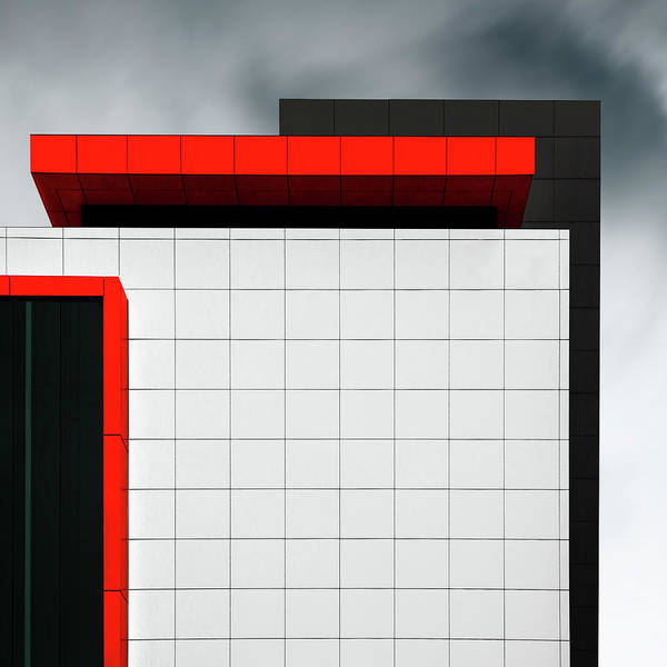 Grid Photograph - Structure Wal by Gilbert Claes