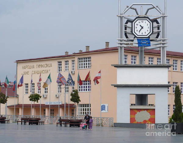 Photograph - Strumica Town Square Clock - Macedonia by Phil Banks