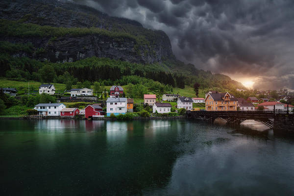 Cloudy Photograph - Stryn by Juan Pablo De