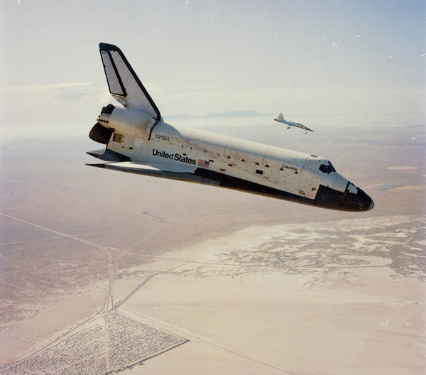 Space Shuttle Photograph - Sts-4 Returning To Edwards At The End Of Mission by Nasa/science Photo Library