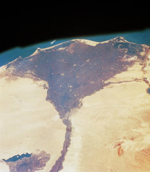 River Delta Photograph - Sts-4 View Of Egypt's Nile Delta by Nasa/science Photo Library