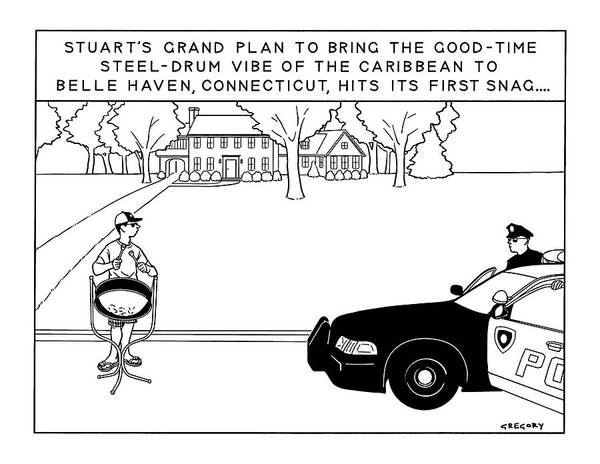 Police Drawing - Stuart's Grand Plan To Bring The Good-time by Alex Gregory