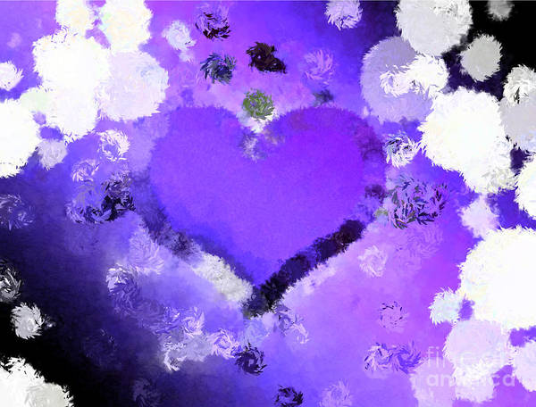 Nonprofit Digital Art - Stuck In Middle With You Purple by Holley Jacobs