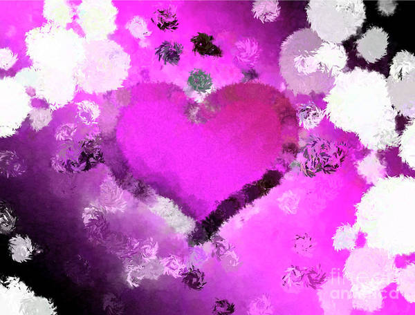 Nonprofit Digital Art - Stuck In The Middle Pink by Holley Jacobs