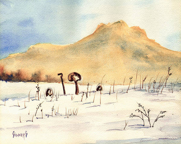 Painting - Stuck In The Snow by Sam Sidders