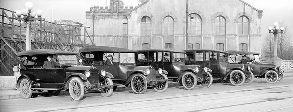 Wall Art - Photograph - Studebaker Taxi Cabs 1919 by Daniel Hagerman