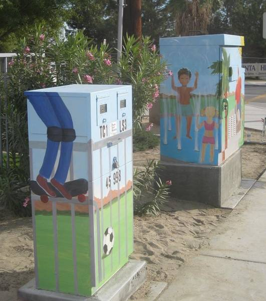 Utility Painting - Student Designed Small Utility Box by Maria Hunt