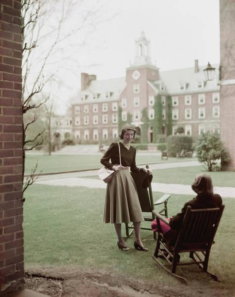 Majestic Photograph - Student Gloria Rivers Of Smith College On Campus by Frances McLaughlin-Gill