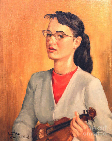 Painting - Student Of Violin by Art By Tolpo Collection