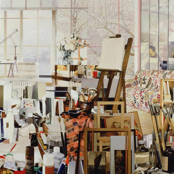 Jeremy Photograph - Studio, 1986 Oil On Canvas by Jeremy Annett