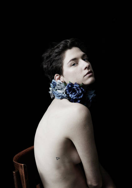 Wall Art - Photograph - Studio Lit Portrait Of Androgynous Girl by Felicity Mccabe