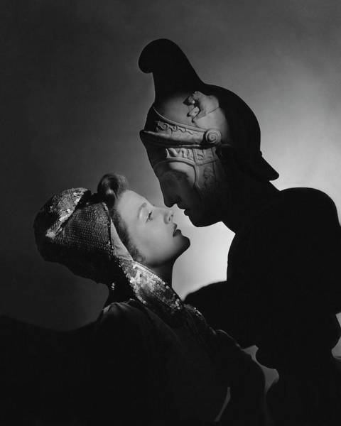 1942 Photograph - Studio Portrait Of Constance Moore And A Greek by Horst P. Horst