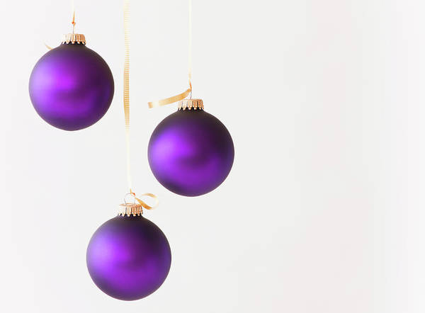 Decoration Photograph - Studio Shot Of Purple Christmas by Daniel Grill