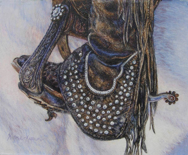 Studs Spurs And Worn Leather Art Print