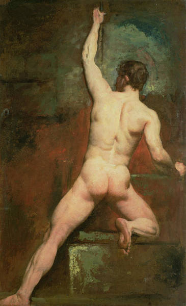 Homo Painting - Study For A Male Nude by William Etty