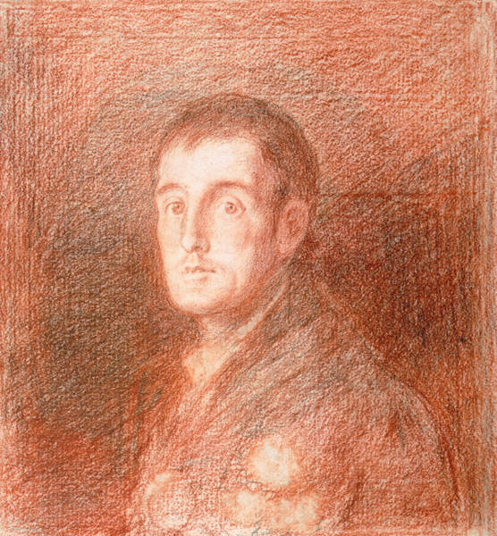 Male Figure Drawing - Study For An Equestrian Portrait Of The Duke Of Wellington 1769-1852 C.1812  by Francisco Jose de Goya y Lucientes