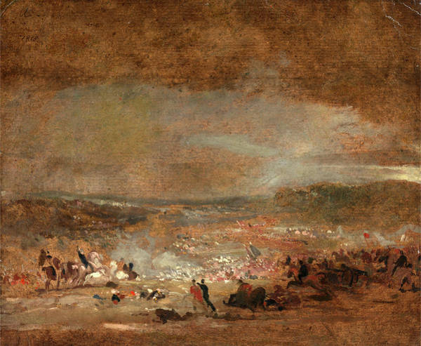 Wall Art - Painting - Study For Battle Of Waterloo Study For Battle Of Waterloo by Litz Collection