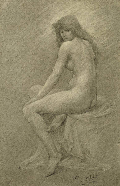 Sensual Drawing - Study For Lilith by Robert Fowler
