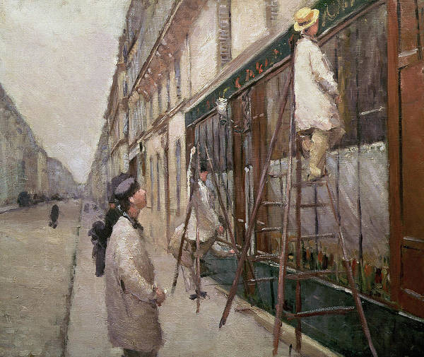 Exterior Painting - Study For The Painters by Gustave Caillebotte