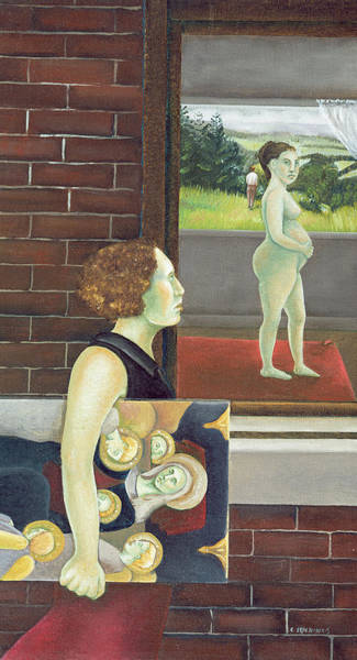 Pregnancy Painting - Study For The Songs Of Travel Number Nine I Have Trod The Upward And The Downward Slope Two by Caroline Jennings