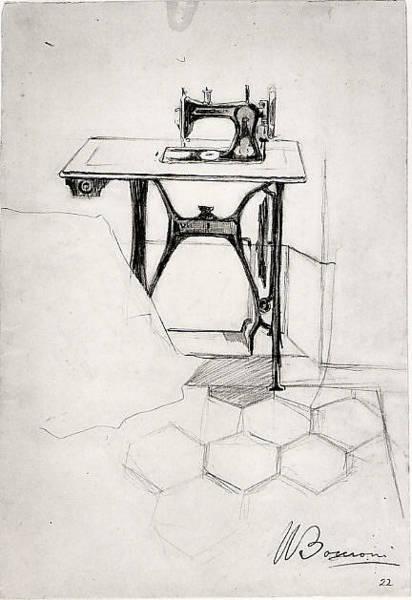 Boccioni Wall Art - Drawing - Study For The Story Of A Seamstress by Umberto Boccioni