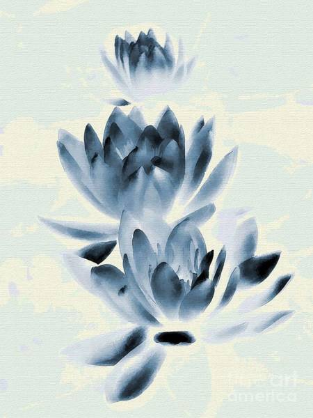 Art Print featuring the photograph Study In Blue by Andrea Kollo