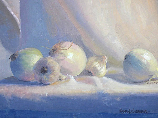 Onion Painting - Study In White by Armand Cabrera