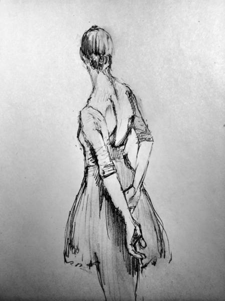 Wall Art - Drawing - Study Of A Dancer by H James Hoff