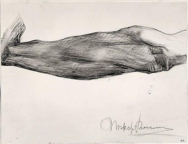 Boccioni Wall Art - Drawing - Study Of A Mans Forearm by Umberto Boccioni