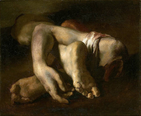 Hand Anatomy Wall Art - Photograph - Study Of Feet And Hands, C.1818-19 Oil On Canvas by Theodore Gericault